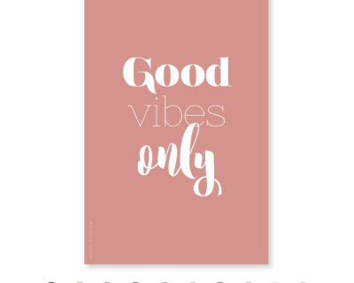 """Carte """"Good vibes only"""""""