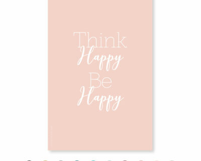 "Carte ""Think Happy…"""