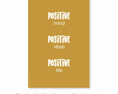 "Carte ""Positive mind…"""