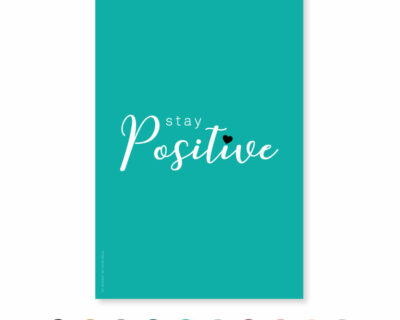 "Carte ""Stay Positive"""