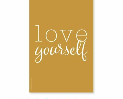 "Carte postale ""Love Yourself"""