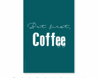 """Carte """"But first Coffee"""""""