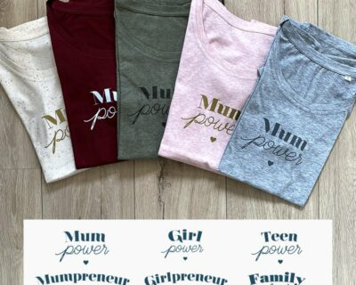 T-shirt Mum Power coloré
